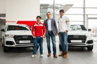 Състезатели и тренировъчни екипи на БФСки с обновена флота автомобили от Audi