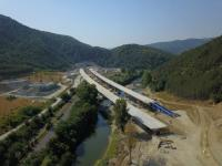 """Готова е конструкцията и на платното за Кулата на виадукта при тунел """"Железница"""" на АМ """"Струма"""""""